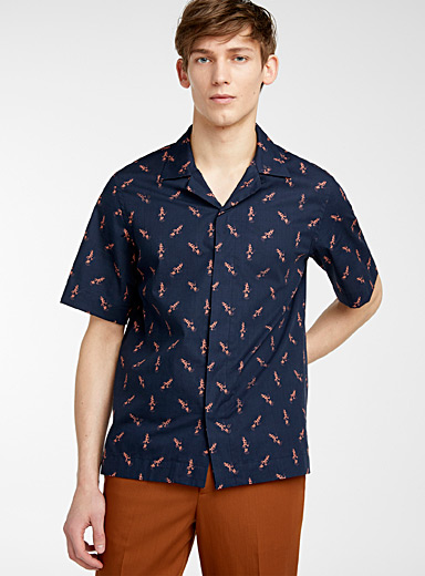 Paul Smith Marine Blue Rabbit shirt for men