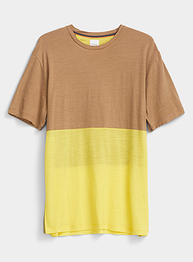 Paul Smith Fawn Contrast panel T-shirt for men