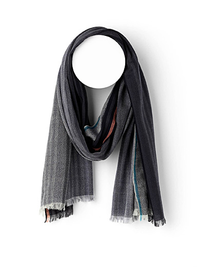 Pure wool grey tone scarf
