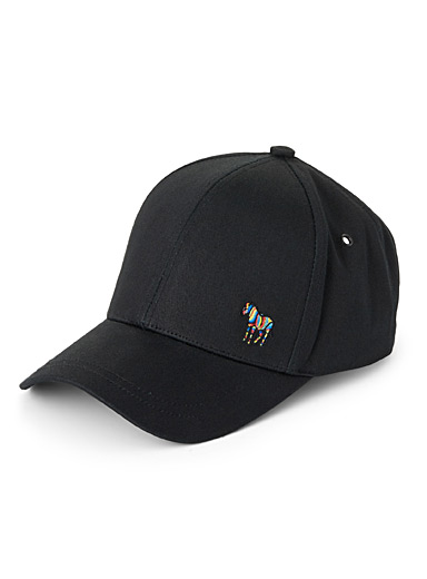 Colourful zebra baseball cap