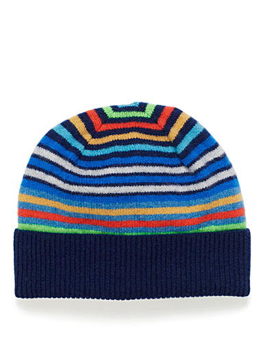 Multicolour stripe tuque