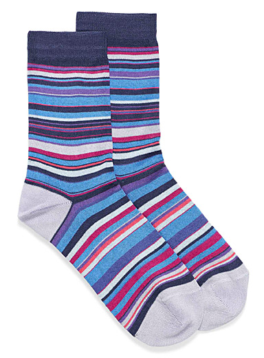 Underwater stripe ankle socks