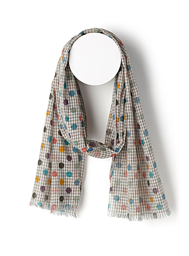 Multicolour dot scarf
