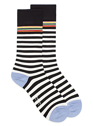 Artist Stripe accent stripe socks