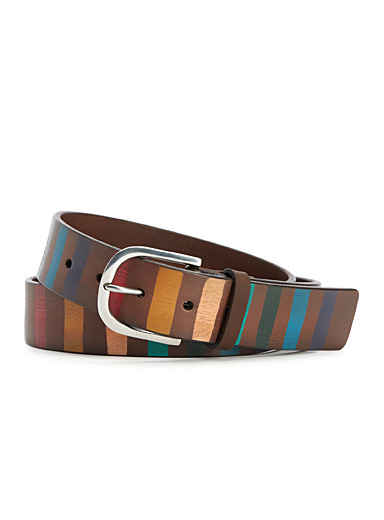 Multicolour stripe belt