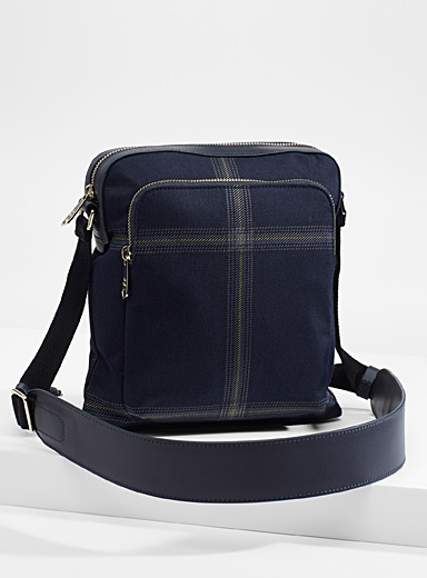 Windowpane check shoulder bag