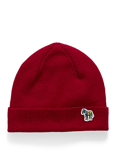 PS Paul Smith Red Zebra red tuque for men