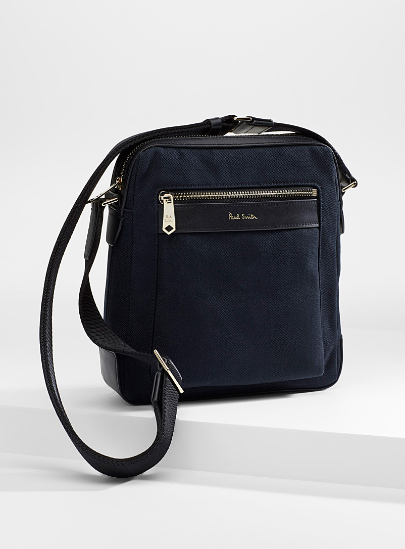 Paul Smith Marine Blue Canvas shoulder bag for men