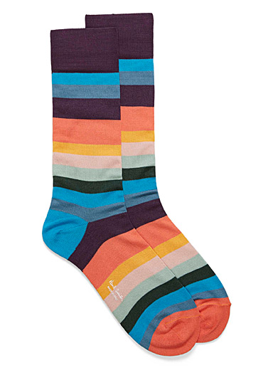 Pop stripe dress socks