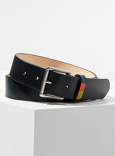 Keeper striped accent belt