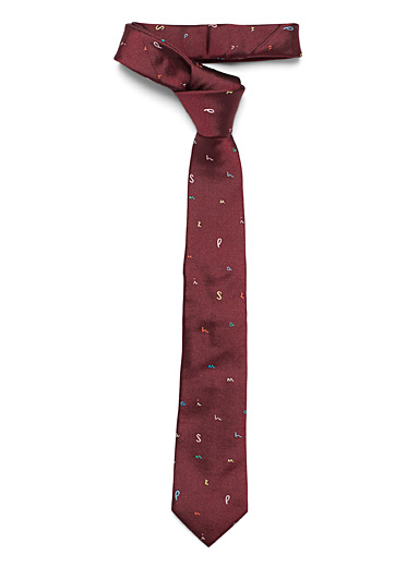 Paul Smith Ruby Red Letters tie for men