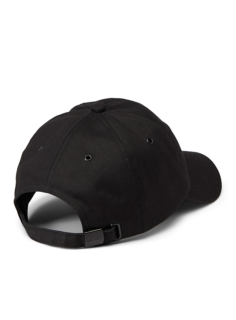 Paul Smith Black Colourful embroidered baseball cap for men