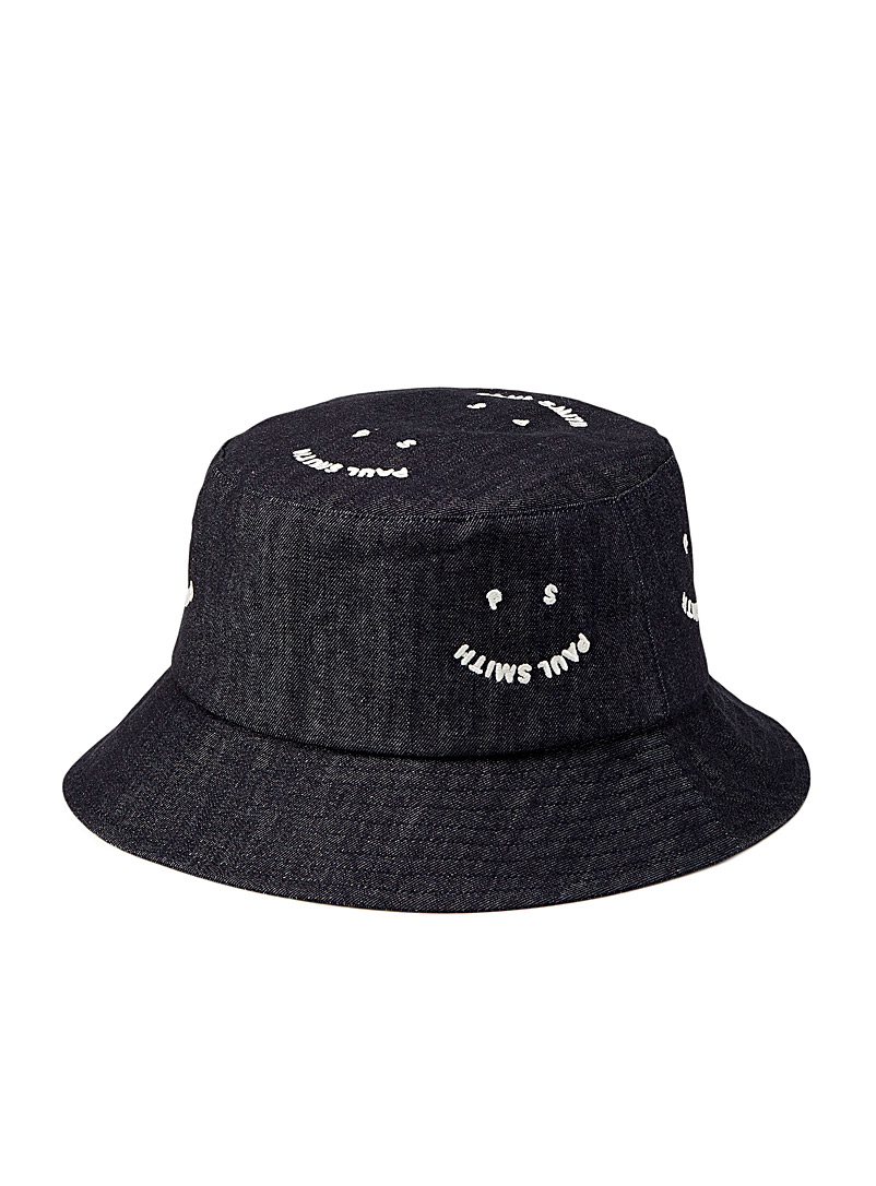 PS Paul Smith Blue Organic cotton smile bucket hat for men
