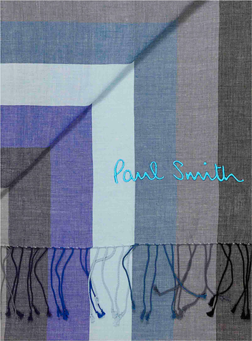 Paul Smith Blue Extravaganza lightweight scarf for men