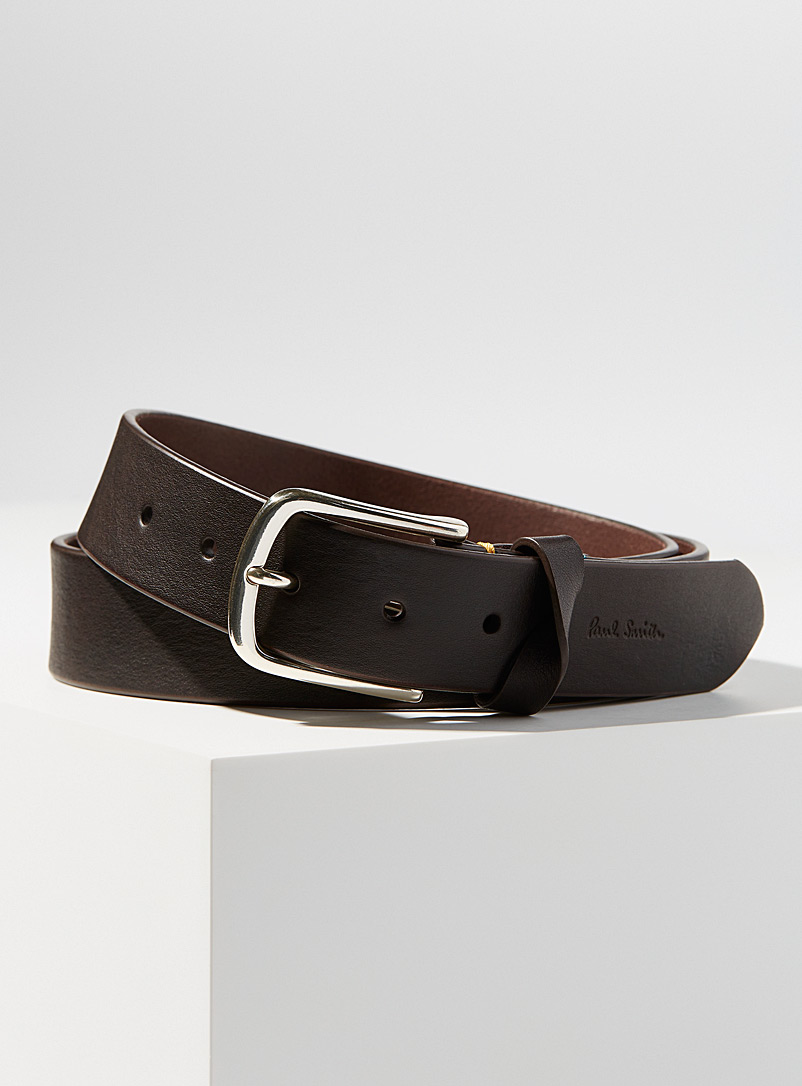 Paul Smith Brown Twisted loop belt for men