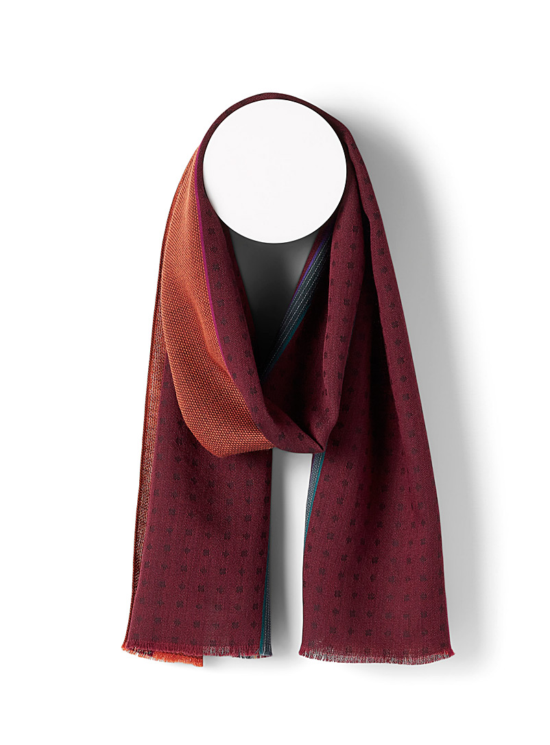 Paul Smith Assorted City blocks scarf for men