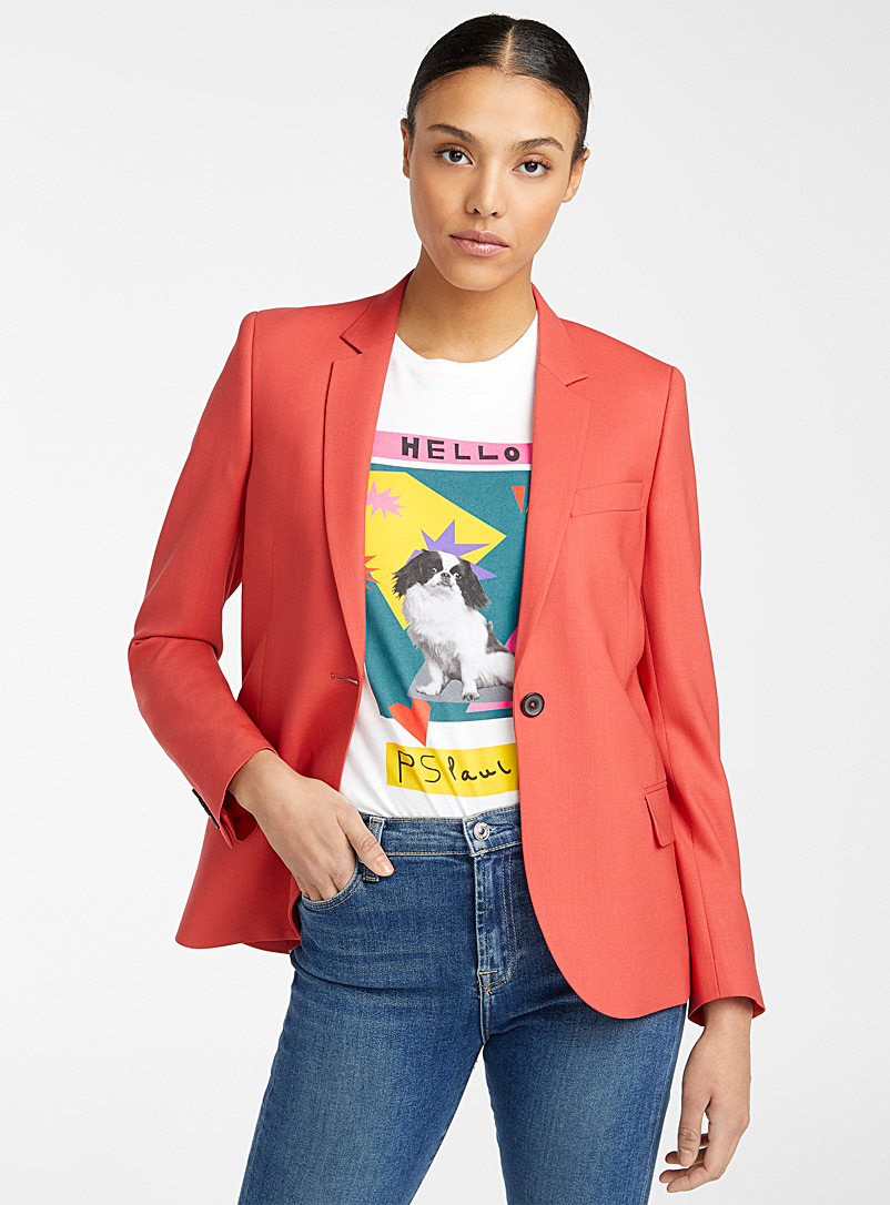 PS Paul Smith Cherry Red Coral blazer for women