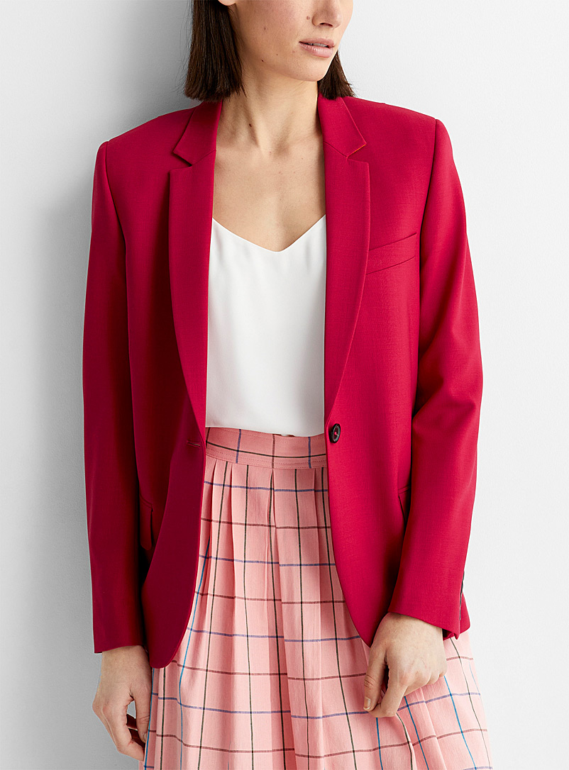 PS Paul Smith Red Single-button fuchsia jacket for women