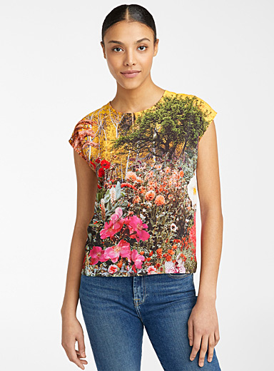 PS Paul Smith Assorted Floral Garden print tee for women