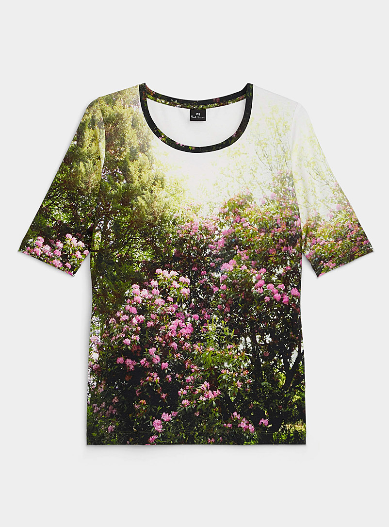 PS Paul Smith Patterned Green Daydreaming floral T-shirt for women