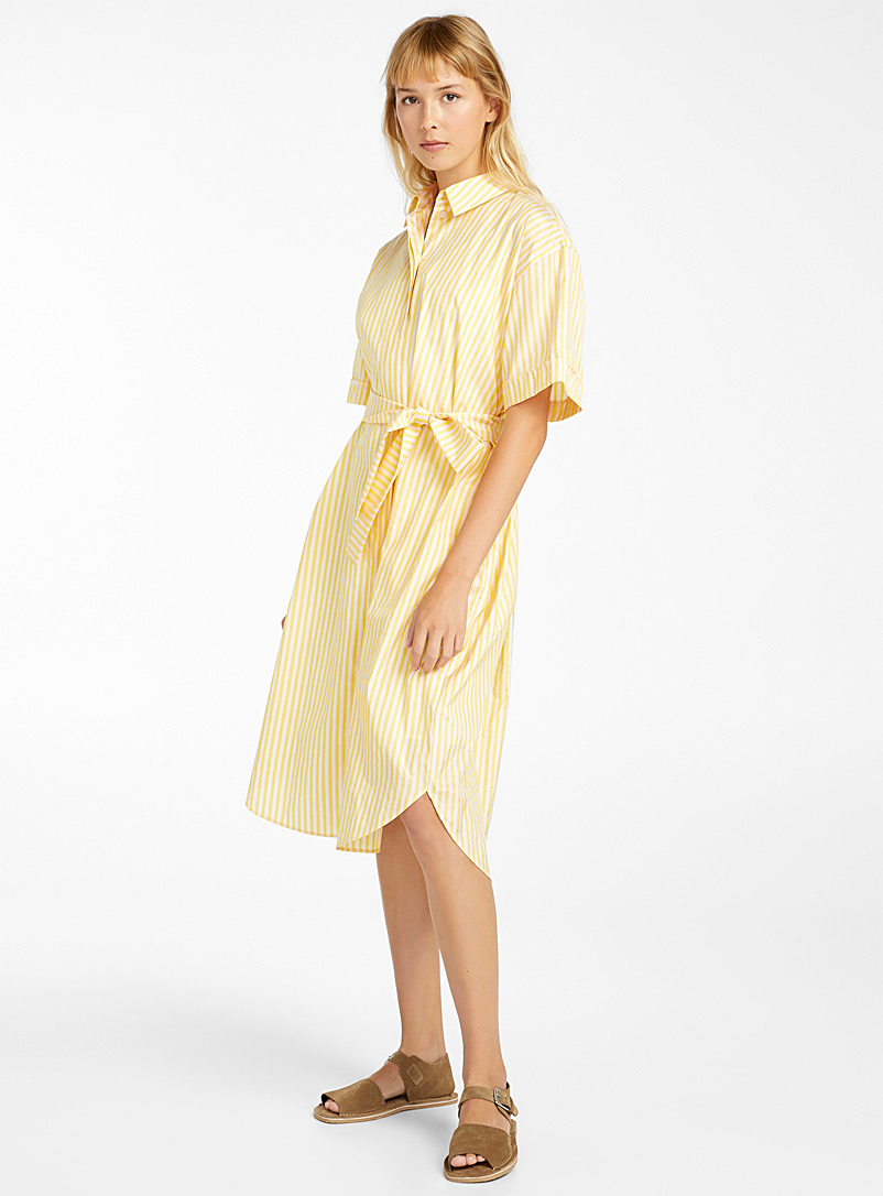 PS Paul Smith Patterned Yellow Yellow stripe shirtdress for women
