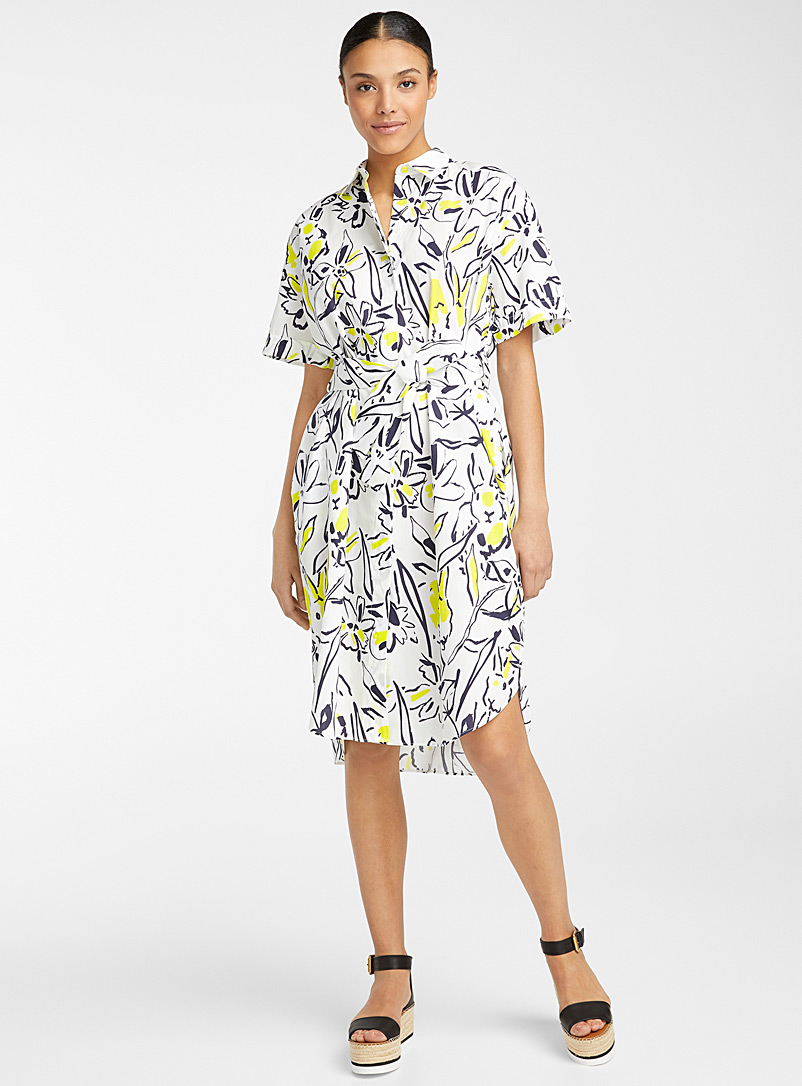 PS Paul Smith Patterned White Summer shirtdress for women