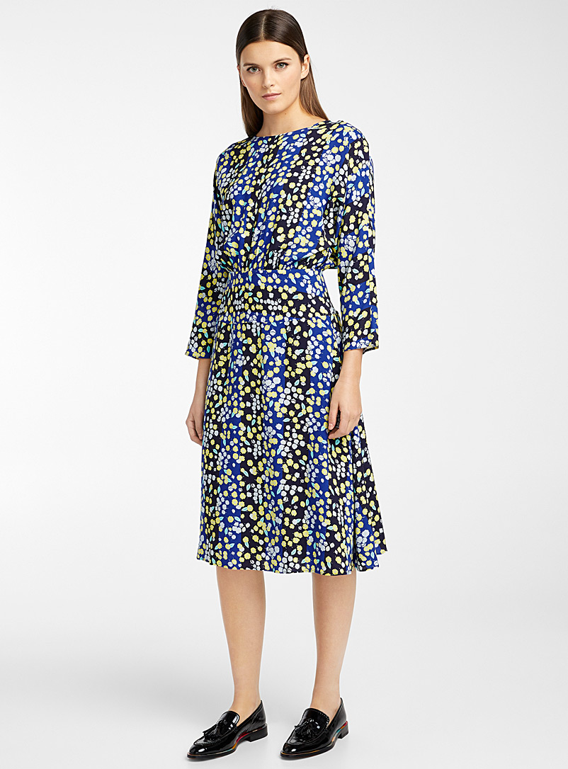 PS Paul Smith Marine Blue Summery floral dress for women