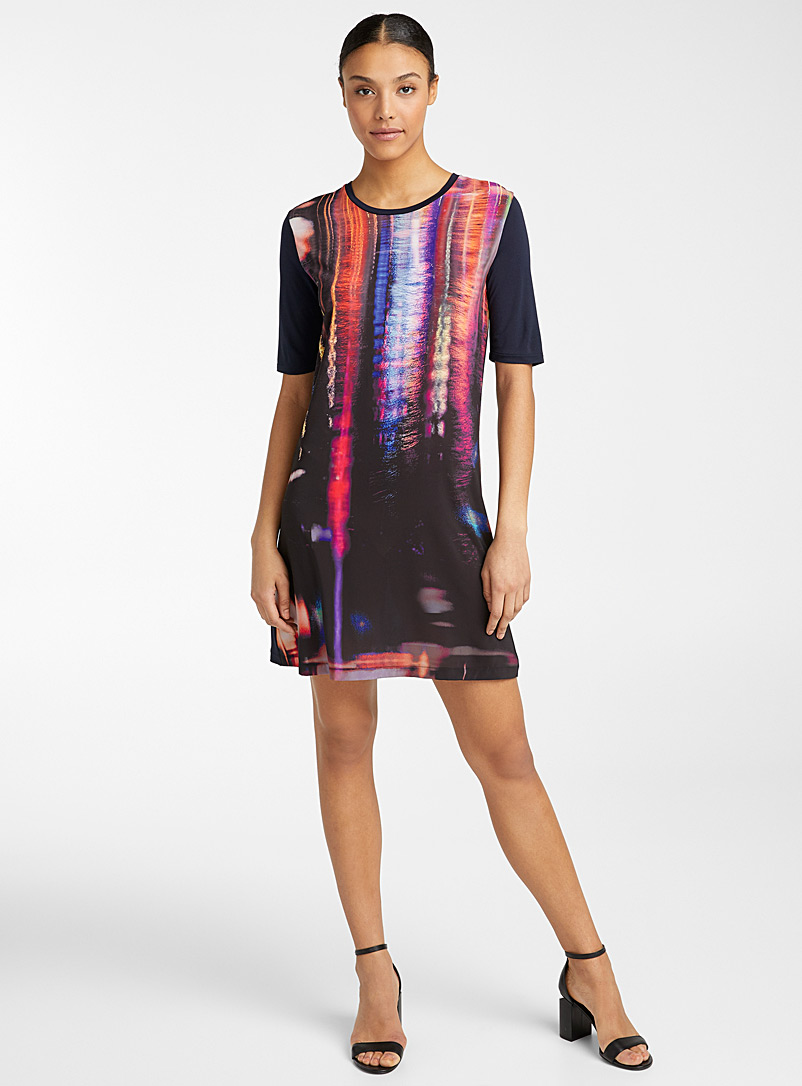 PS Paul Smith Marine Blue Screenprint dress for women