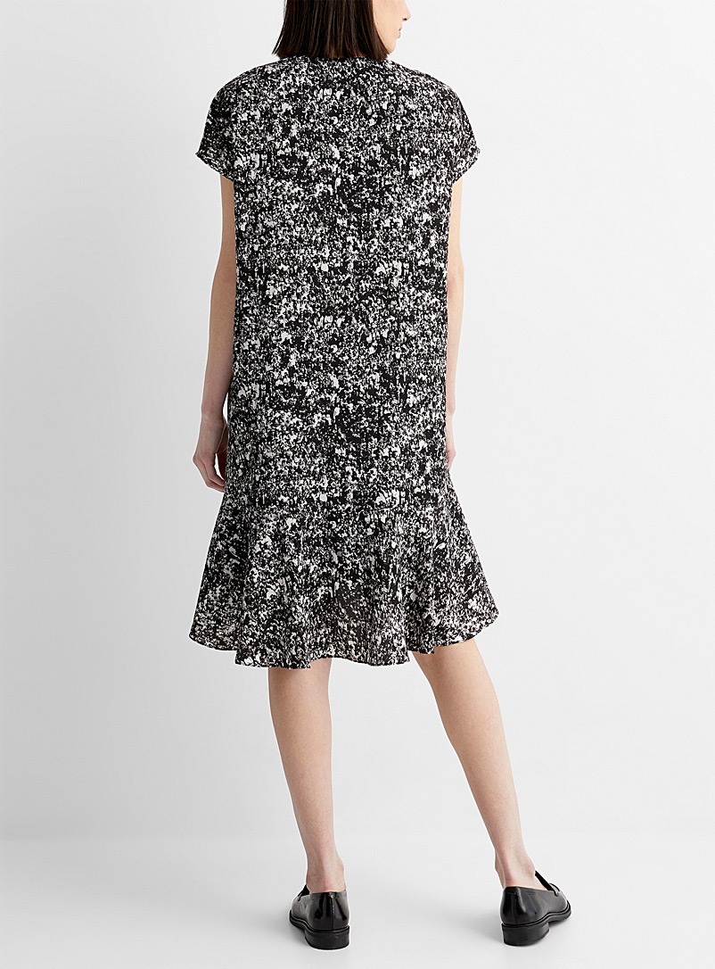 PS Paul Smith Patterned Black Gathered crowd midi dress for women