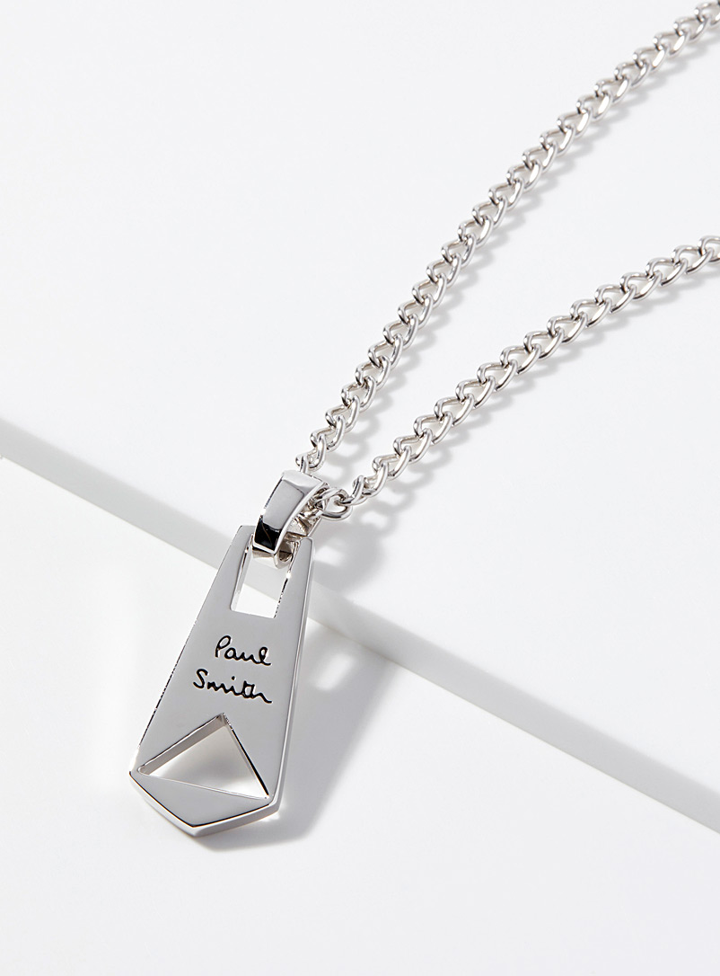 Paul Smith Silver Silver zip necklace for men