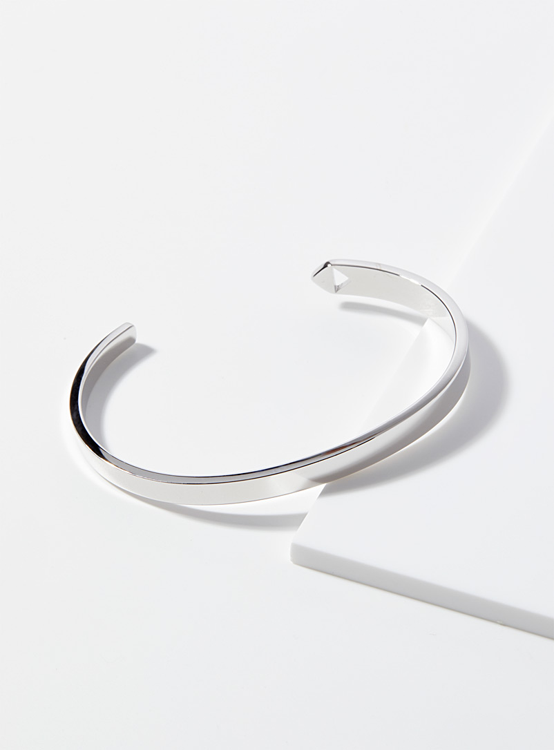 Paul Smith Silver Shiny silver cuff bracelet for men