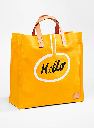 Paul Smith Golden Yellow Hello Goodbye tote for men