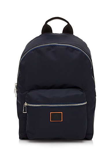 Navy nylon backpack