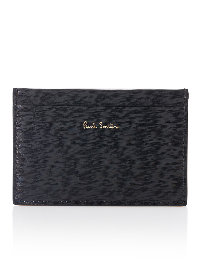 Textured leather card holder - Wallets
