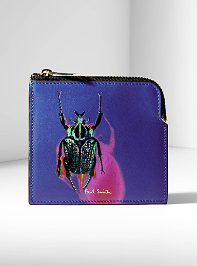 Beetle photo zip wallet