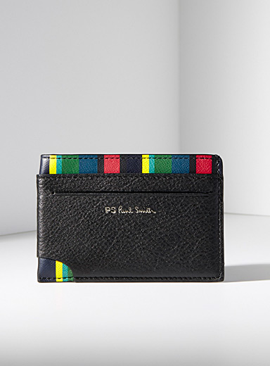 Colourful stripes card holder