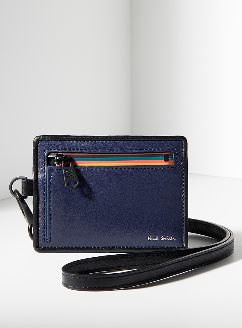 Navy zipped strap pouch