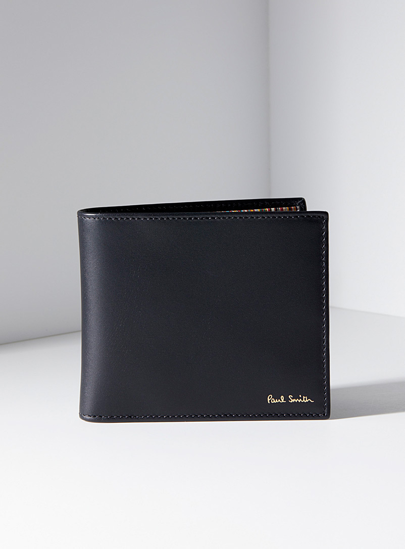 Paul Smith Black Striped interior folded wallet for men