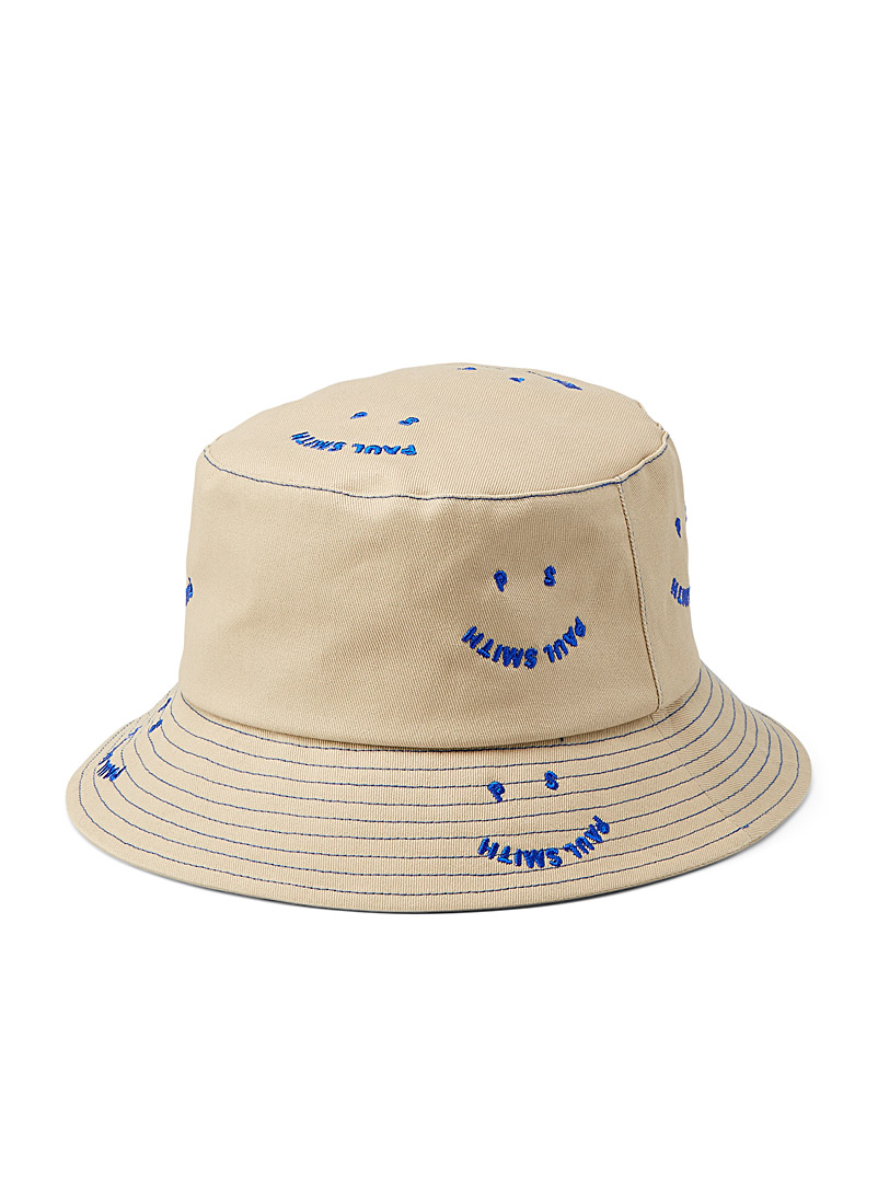 PS Paul Smith Cream Beige PS Happy bucket hat for women