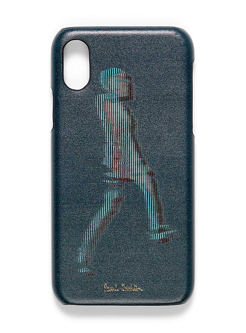 Paul Smith Patterned Black Walker phone case for men