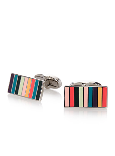 Signature stripe cufflinks