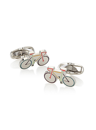 Multi-colour bike cufflinks