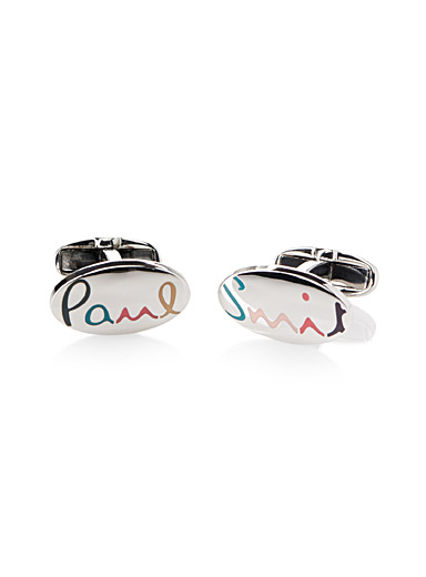 Rainbow signature cufflinks