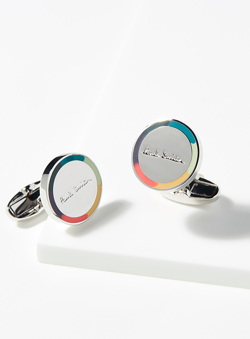 Colourful circles cufflinks