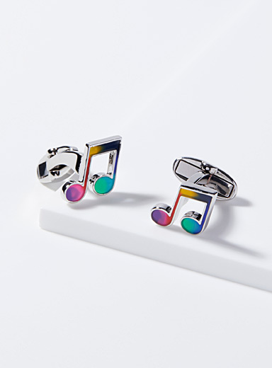 Paul Smith Silver Musical note cufflinks for men