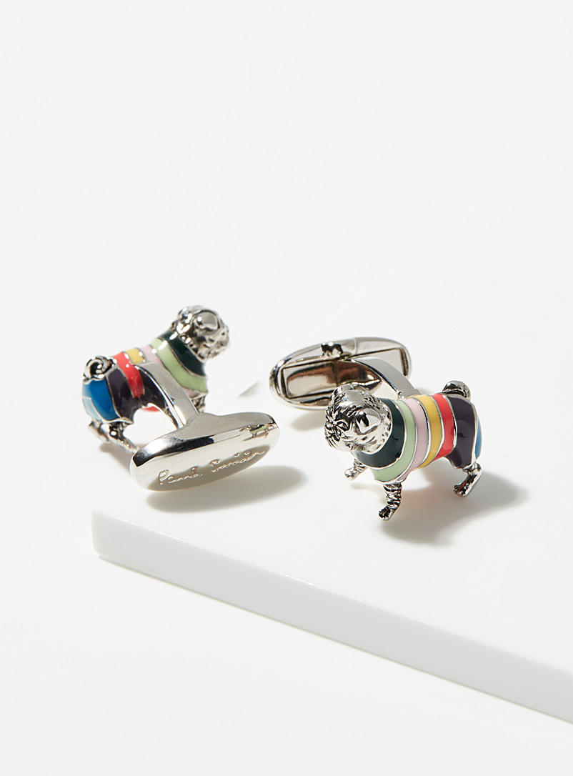 Paul Smith Assorted Striped sweater bulldog cufflinks for men