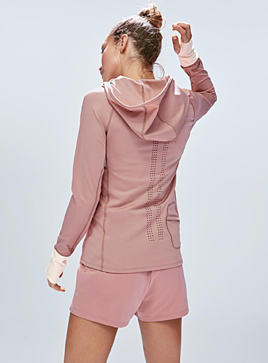 Laser-perforated back jacket