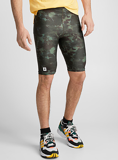 Echo organic camo cycling short