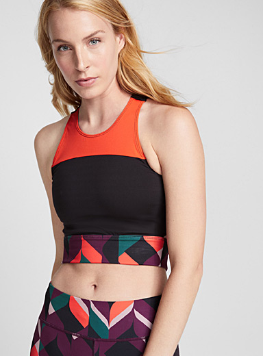 Colour block bra