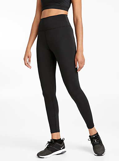 I.FIV5 Black Recycled microfibre high waisted legging for women